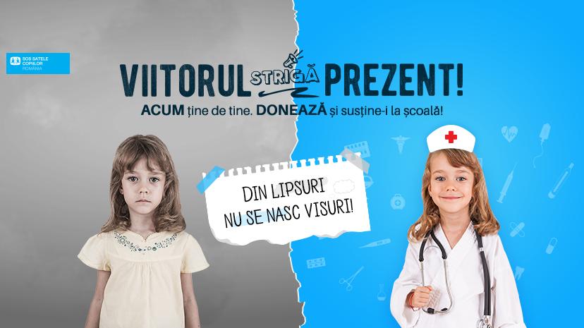 """""""VIITORUL STRIGĂ PREZENT!"""" O campanie SOS Satele Copiilor România pentru susținerea la școală a 200 de copii"""
