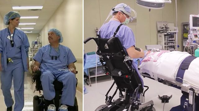 Povestea doctorului paralizat care operează din scaunul cu rotile