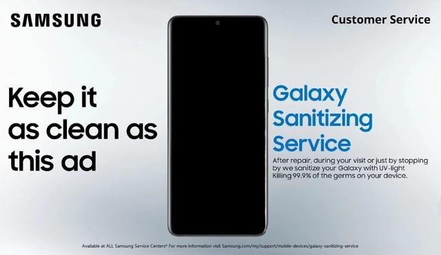 Samsung oferă dezinfectare gratuită pentru smartphone-uri în magazinele şi service-urile sale