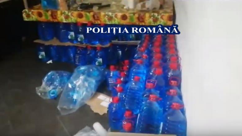 Diluant și lichid de parbriz scoase la vânzare pe post de spirt. Măsurile luate de Poliția Română