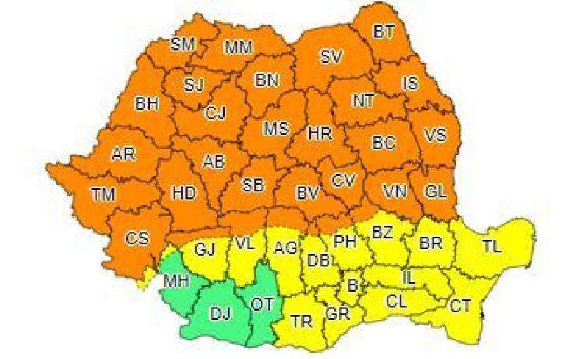 Meteo. Cod portocaliu în jumătate de țară. În ce zone vor fi ploi abundente
