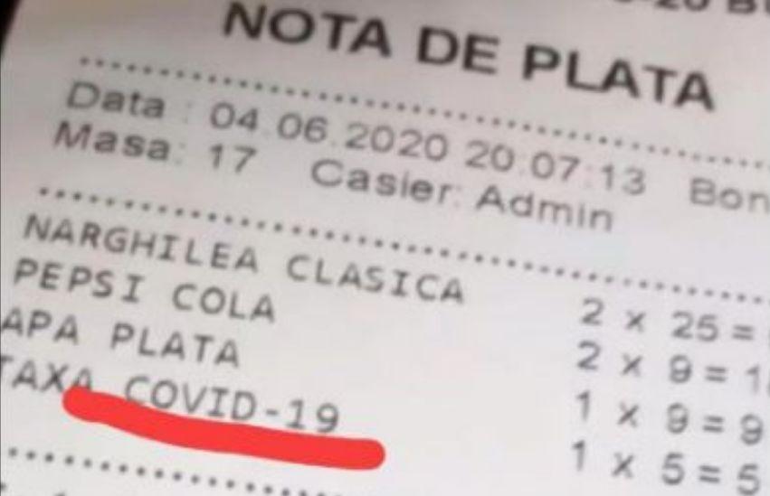 Taxa COVID în România. Câţi bani adaugă patronii de restaurante la notă